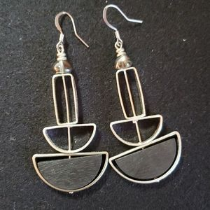 Silver and Black Dangles